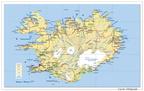 Carte d'Islande